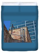 Old And New Los Angeles Duvet Cover