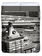 Old And New Tokyo Station Duvet Cover
