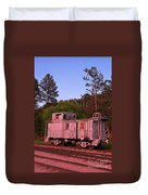 Old And Weathered Caboose Duvet Cover