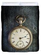 Old Antique Pocket Watch Duvet Cover