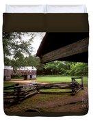 Old Appalachian Barn Yard Duvet Cover