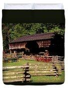 Old Appalachian Farm Cantilevered Barn Duvet Cover