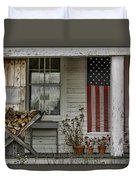 Old Apple Orchard Porch Duvet Cover