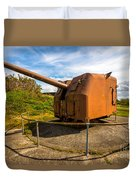 Old Artillery Gun - Ft. Stevens - Oregon Duvet Cover