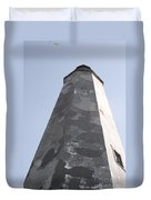 Old Baldy Lighthouse Nc Duvet Cover