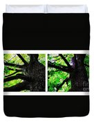 Old Barks Diptych - Deciduous Trees Duvet Cover