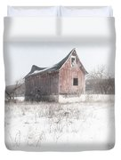 Old Barn - Brokeback Shack Duvet Cover by Gary Heller