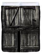 Old Barn Door - Bw Duvet Cover