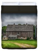 Old Barn On A Stormy Day Duvet Cover