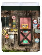 Old Barn Signs - Door And Window - Shadow Play Duvet Cover