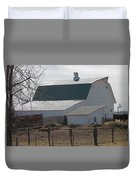 Old Barn With New Roof Duvet Cover
