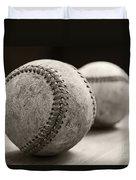 Old Baseballs Duvet Cover