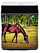 Old Bay Horse Duvet Cover