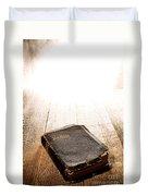 Old Bible In Divine Light Duvet Cover