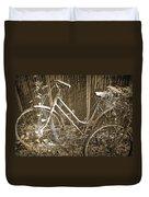 Old Bikes Duvet Cover