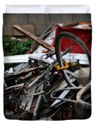 Old Bikes - Series I Duvet Cover
