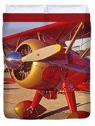 Old Biplane I I I Duvet Cover