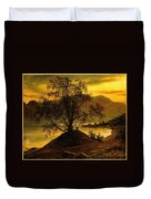 Old Birch Tree At The Sognefjord Duvet Cover