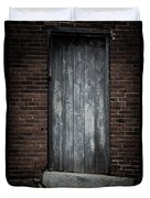 Old Blacksmith Shop Door Duvet Cover