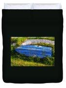 Old Blue Boat Duvet Cover