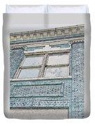 Old Blue Building I Duvet Cover