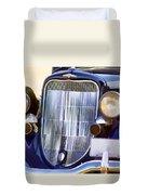 Old Blue Car Duvet Cover