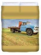 Old Blue Farm Truck Duvet Cover