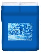 Old Blue Truck Duvet Cover