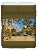 Old Boat On The Beach Duvet Cover