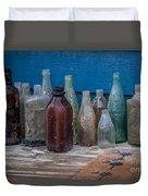 Old Bottles Duvet Cover