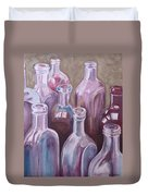 Old Bottles Duvet Cover by Kathy Weidner