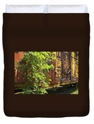 Old Boxcar Dying Slowly Duvet Cover