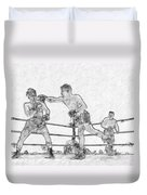 Old Boxing Old Time Duvet Cover