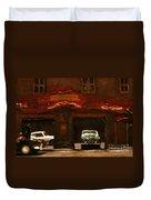 Old Brooklyn Garage Duvet Cover