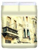 Old Building Facade Duvet Cover