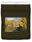 Old Buildings And Fall Colors In Vienna Maine Duvet Cover by Keith Webber Jr