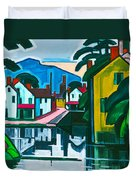 Old Canal Port Duvet Cover