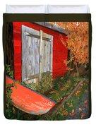Old Canoe Duvet Cover