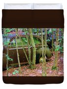 Old Car In The Woods Duvet Cover