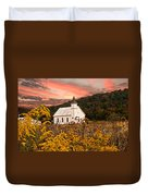 Old Carmel Ohio Church Duvet Cover