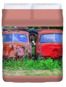 Old Cars Duvet Cover