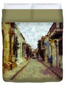 Old Cartagena 1 Duvet Cover