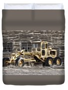Old Cat Grader Duvet Cover