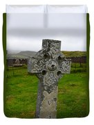 Old Cemetery Stones In Scotland Duvet Cover