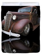 Old Chevy Duvet Cover by Debra and Dave Vanderlaan