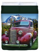 Old Chevy Pickup Ca5073-14 Duvet Cover