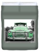 Old Chevy Pickup Truck Duvet Cover