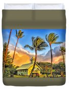 Old Church At Honokawai Maui Duvet Cover