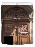 Old Church Door Cathedral Autun Duvet Cover