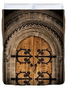 Old Church Door Duvet Cover